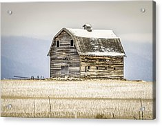 Winter Barn Acrylic Print by Bryan Moore