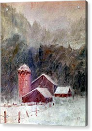 Winter Barns Acrylic Print