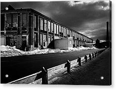 Winter Bates Mill Acrylic Print by Bob Orsillo