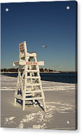 Winter Beach At Penfield  Acrylic Print