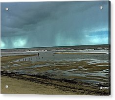 Acrylic Print featuring the photograph Winter Beach by Debbie Cundy