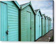 Winter Beach Huts IIi Acrylic Print