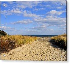 Winter Beach Sky Acrylic Print by JoAnn Lense