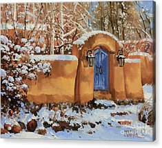 Winter Beauty Of Santa Fe Acrylic Print by Gary Kim