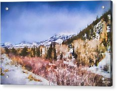 Winter Beginnings In Colorado Landscape Art By Jai Johnson Acrylic Print by Jai Johnson