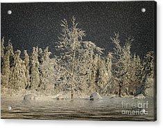 Winter Begins Acrylic Print by Lois Bryan