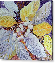 Acrylic Print featuring the painting Winter Berries by Joanne Smoley