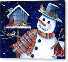 Winter Birds Delight Acrylic Print