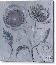 Acrylic Print featuring the painting Winter Blooms by Robin Maria Pedrero