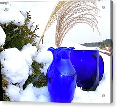 Acrylic Print featuring the photograph Winter Blues II by Randy Rosenberger