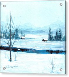 Winter Blues Acrylic Print by SueEllen Cowan
