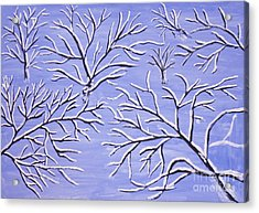 Winter Branches, Painting Acrylic Print