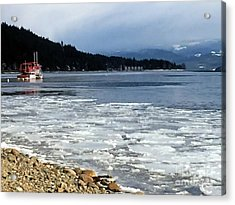 Cottage Life In Winter Acrylic Print