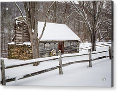 Winter Cabin Acrylic Print by Bill Wakeley