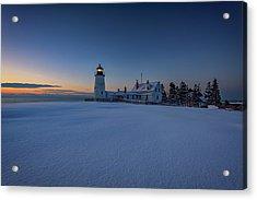 Winter Calm At Pemaquid Point Acrylic Print