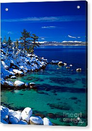 Winter Calm Lake Tahoe Acrylic Print