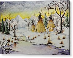 Winter Camp Acrylic Print