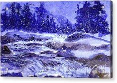 Winter Cascade Acrylic Print