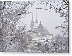 Winter Cathedral Of St. Peter And Paul In Brno Acrylic Print