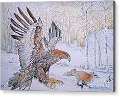 Winter Chase Acrylic Print