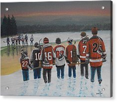 Winter Classic 2012 Acrylic Print by Ron  Genest
