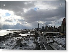 Winter Clouds Over Grant Park Acrylic Print by Gregory Jeffries