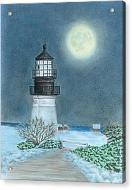 Winter Coast Acrylic Print by Troy Levesque