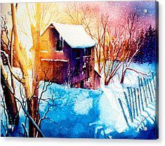 Winter Color Acrylic Print by Hanne Lore Koehler
