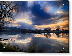 Winter Colors At Sunset Acrylic Print