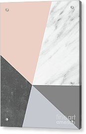Winter Colors Collage Acrylic Print