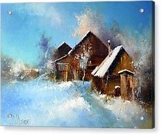 Winter Cortyard Acrylic Print