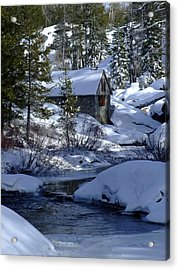 Winter Cottage Acrylic Print