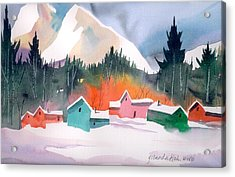 Winter Cottages Acrylic Print