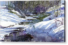 Winter Creekbed Acrylic Print by Andrew King