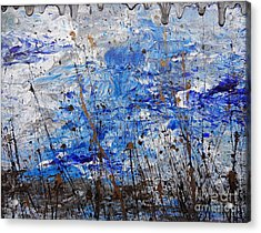 Acrylic Print featuring the painting Winter Crisp by Jacqueline Athmann