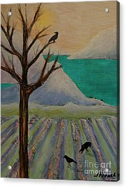 Winter Crows Acrylic Print
