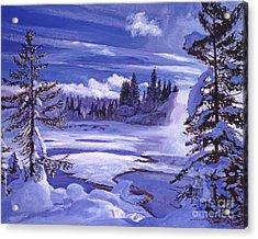 Winter Acrylic Print by David Lloyd Glover