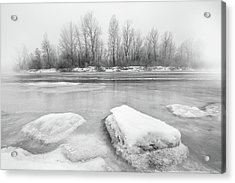 Acrylic Print featuring the photograph Winter by Davorin Mance