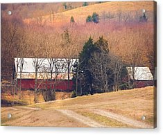 Acrylic Print featuring the photograph Winter Day At The Farm by Debbie Karnes
