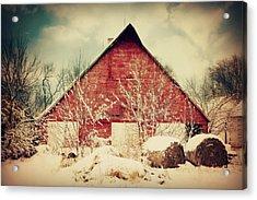 Winter Day On The Farm Acrylic Print