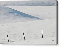 Winter Day On The Prairies Acrylic Print by Mark Duffy