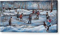 Winter Days Acrylic Print by Patsy Cormier
