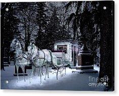 Winter Departure   Acrylic Print by Tom Straub