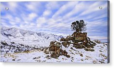 Winter Desert Acrylic Print by Chad Dutson