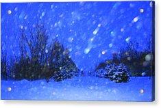 Winter Diamonds Acrylic Print by Julie Lueders