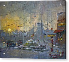 Winter End Of Day Acrylic Print by Ylli Haruni