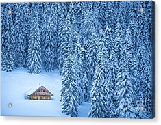 Winter Escape Acrylic Print by JR Photography
