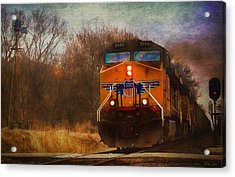 Winter Evening Union Pacific Train Acrylic Print