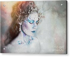 Winter Fae Acrylic Print by Spokenin RED