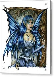 Winter Fairy Drawing Acrylic Print